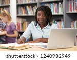 portrait of female high school... | Shutterstock . vector #1240932949