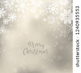 gold christmas background with... | Shutterstock .eps vector #1240935553