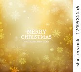 gold christmas background with... | Shutterstock .eps vector #1240935556