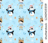 merry christmas pattern with... | Shutterstock .eps vector #1240935559