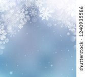 christmas snowflakes blurred... | Shutterstock .eps vector #1240935586