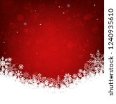 red christmas background with... | Shutterstock .eps vector #1240935610