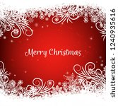 red christmas background with... | Shutterstock .eps vector #1240935616