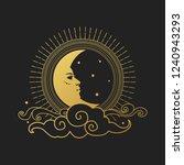 moon on black background.... | Shutterstock .eps vector #1240943293