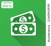 dollar currency banknote icon... | Shutterstock .eps vector #1240943959