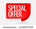 sale of special offers.... | Shutterstock .eps vector #1240947559