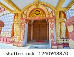 the ornate porch of the pagoda... | Shutterstock . vector #1240948870