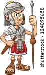 Cartoon Roman Soldier. Vector...
