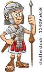 Cartoon Roman Soldier. Vector...