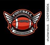 american footbal emblem   Shutterstock .eps vector #1240958806