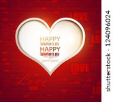 gift card. valentine's day.... | Shutterstock .eps vector #124096024
