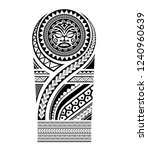tribal tattoo pattern maori ... | Shutterstock .eps vector #1240960639