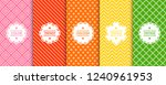 set of colorful seamless... | Shutterstock .eps vector #1240961953