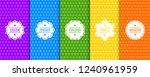 set of vector seamless... | Shutterstock .eps vector #1240961959