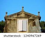vintage wooden window  | Shutterstock . vector #1240967269