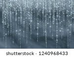 snow frost effect on blue... | Shutterstock .eps vector #1240968433