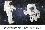 astronauts in spacesuits... | Shutterstock . vector #1240971673