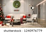 christmas living room with a... | Shutterstock . vector #1240976779