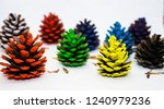 set of colorful different... | Shutterstock . vector #1240979236