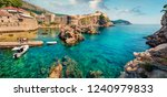 panoramic morning view of... | Shutterstock . vector #1240979833