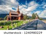 splendid summer view of lom... | Shutterstock . vector #1240980229