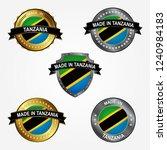 design label of made in tanzania | Shutterstock .eps vector #1240984183