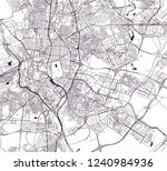 vector map of the city of... | Shutterstock .eps vector #1240984936