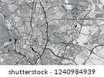 vector map of the city of... | Shutterstock .eps vector #1240984939
