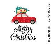 merry christmas stylized... | Shutterstock .eps vector #1240987873