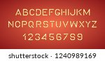bright neon alphabet letters ... | Shutterstock .eps vector #1240989169