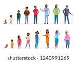 african american people of...   Shutterstock .eps vector #1240991269