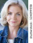 beautiful middle aged woman in...   Shutterstock . vector #124099558