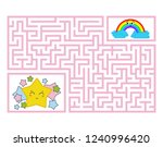 a rectangular labyrinth with a... | Shutterstock .eps vector #1240996420