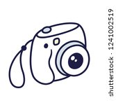 retro instant camera drawing.... | Shutterstock .eps vector #1241002519