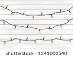 vector holiday garlands with... | Shutterstock .eps vector #1241002540