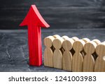 business team and red up arrow... | Shutterstock . vector #1241003983
