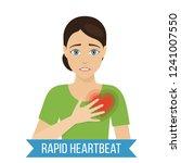 common symptom of panic... | Shutterstock .eps vector #1241007550