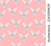 cute reindeer cartoon deer... | Shutterstock .eps vector #1241009629