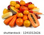 Yellow Vegetable And Fruit...