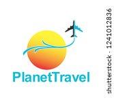 planet travel logo  | Shutterstock .eps vector #1241012836