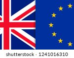 europe and united kingdom flags | Shutterstock .eps vector #1241016310