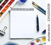 art mockup. colorful mockup for ... | Shutterstock . vector #1241024539
