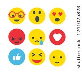emoticons flat illustration | Shutterstock .eps vector #1241025823