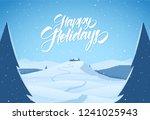 vector illustration  snowy... | Shutterstock .eps vector #1241025943