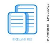 information held line icon  ... | Shutterstock .eps vector #1241026423