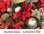 christmas decoration background | Shutterstock . vector #1241041780