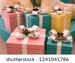 christmas gift boxes | Shutterstock . vector #1241041786