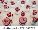 lots of snowmen with white... | Shutterstock . vector #1241041789