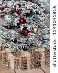 christmas tree and golden gifts | Shutterstock . vector #1241041816