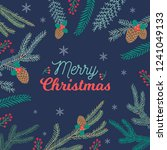 happy merry christmas holiday... | Shutterstock .eps vector #1241049133